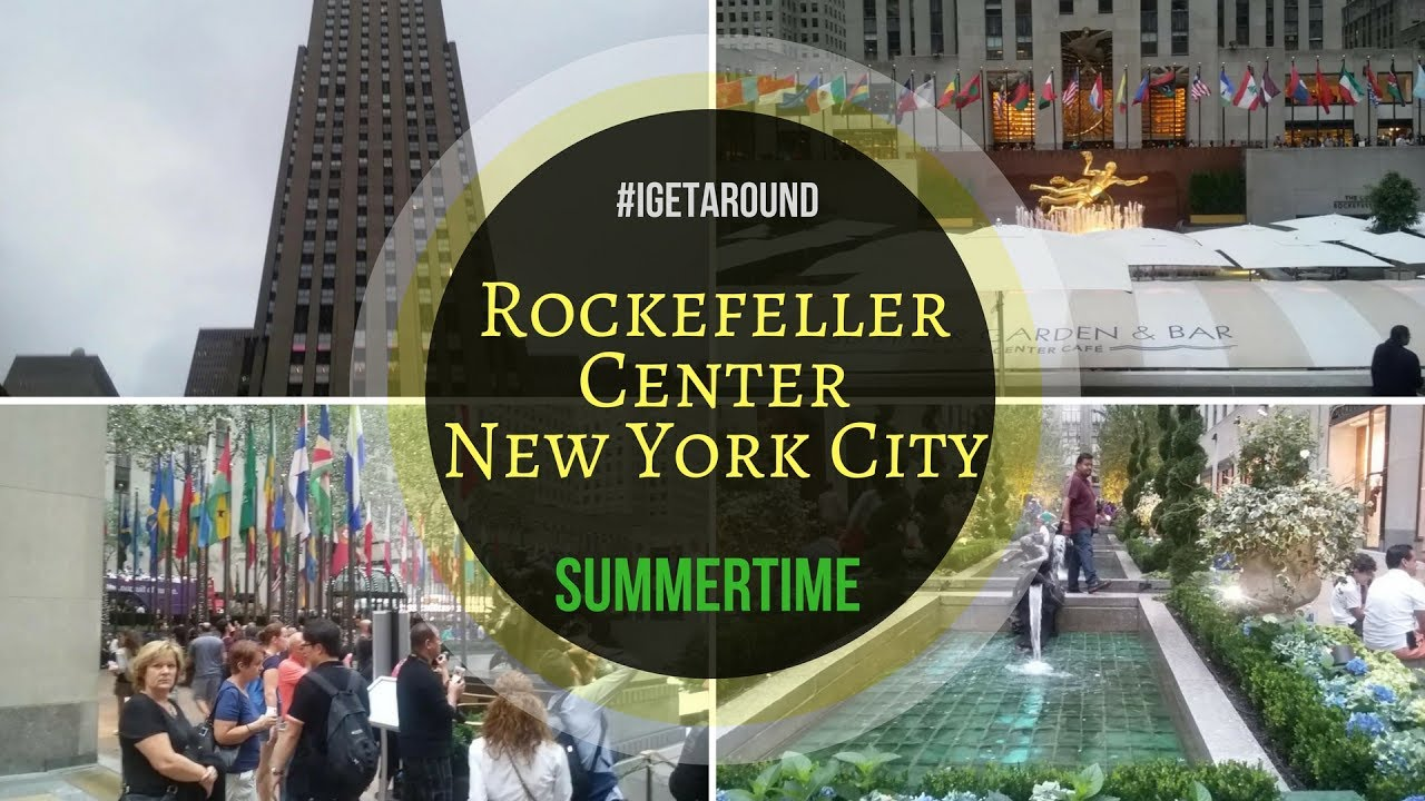 Rockefeller Center / Rockefeller Plaza NYC in the Summertime
