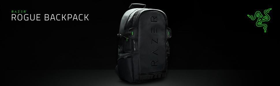 "Razer Rogue 15.6"" Backpack - Protective Black Laptop & Notebook Backpack"