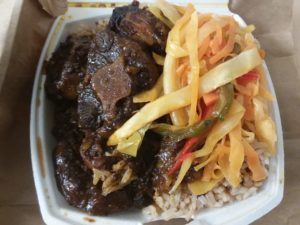 Oxtail and Rice & Peas with Vegetables